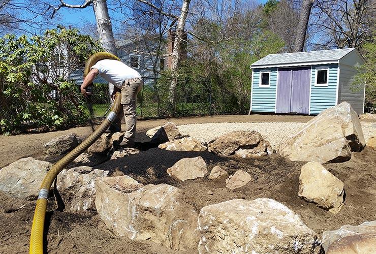 Nh Bark Mulch Amp Mulching Olofson Landworks